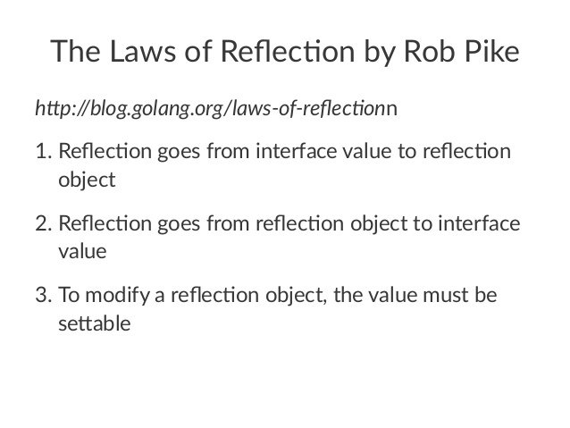 The Laws of Reflection(译)